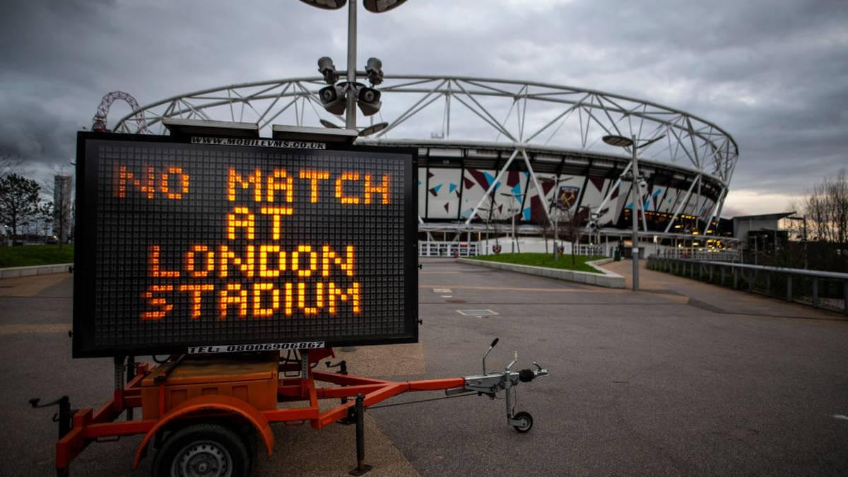 Premier League stoppt den Spielbetrieb in der Coronakrise