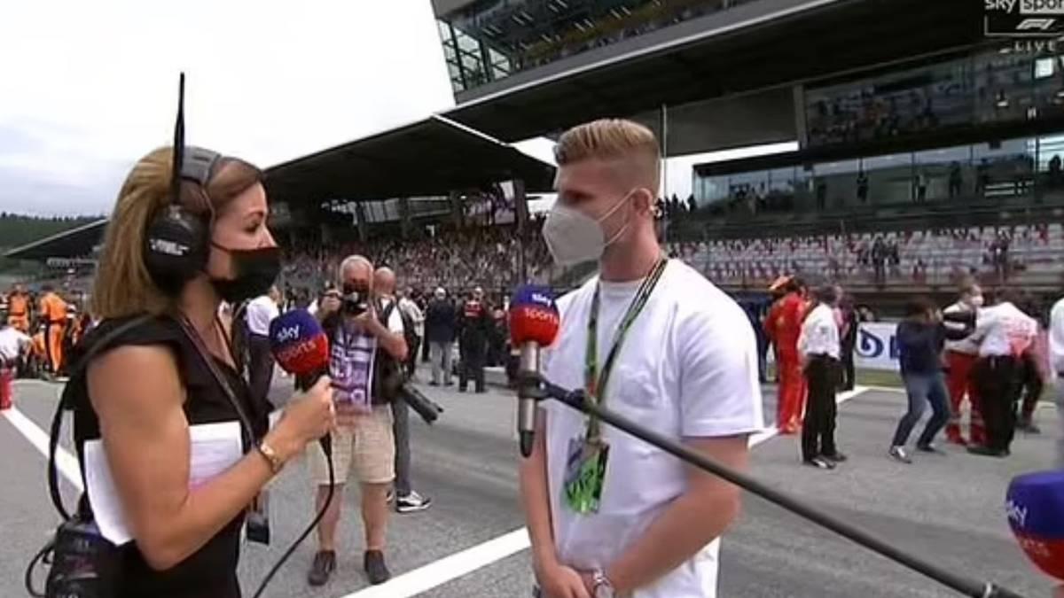 Die britische Sky-Reporterin Natalie Pinkham verwechselte Timo Werner augenscheinlich mit DFB-Team Keeper Manuel Neuer