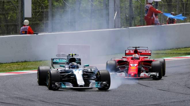 Valtteri Bottas hielt Sebastian Vettel einige Zeit lang auf