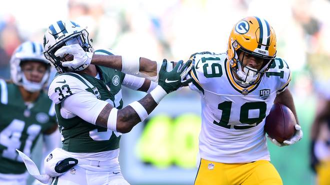 Green Bay Packers v New York Jets Equanimeous St. Brown fing bisher Pässe für 234 Yards für die Green Bay Packers
