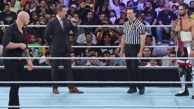 Universal Champion Seth Rollins (r.) und Baron Corbin eröffnen WWE Super ShowDown