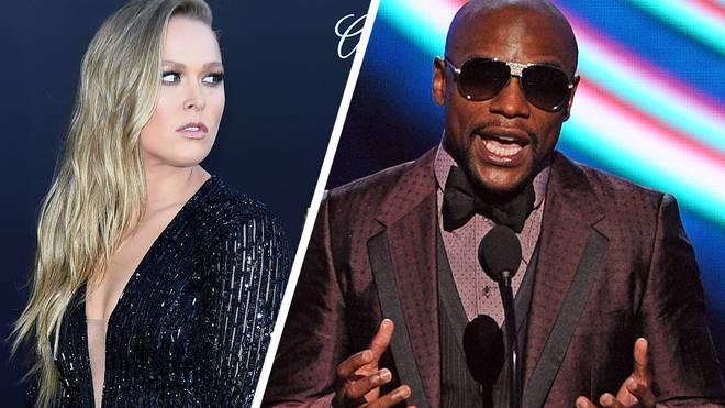 "Ronda Rousey (l.) und Floyd ""Money"" Mayweather"
