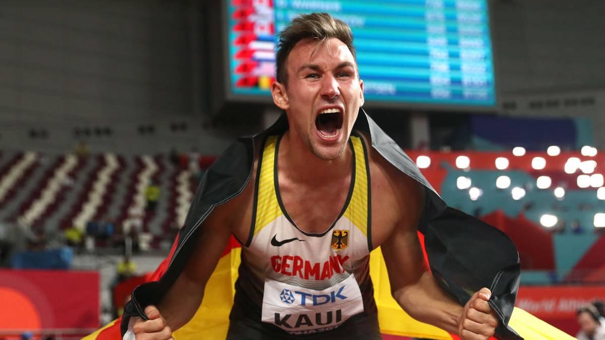 Niklas Kaul wurde bei der Leichtathletik-WM in Doha sensationell Weltmeister im Zehnkampf