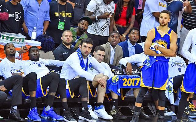 Bank der Golden State Warriors in den NBA-Finals