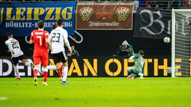 Serge Gnabry erzielte in seinem vierten Länderspiel sein viertes Tor