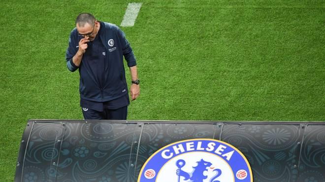 Maurizio Sarri beim Europa-League-Finale zwischen Chelsea und Arsenal
