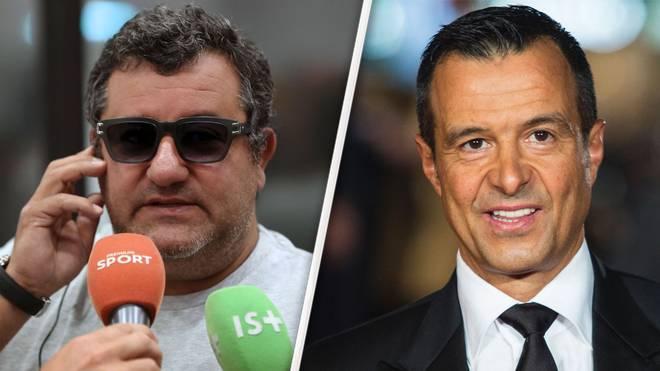 Die Spielerberater Mino Raiola (l.) und Jorge Mendes haben einen Großteil der internationalen Top-Fußballer unter Vertrag