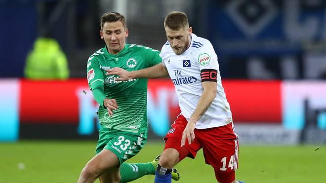 Aaron Hunt führte den HSV zum Sieg gegen Fürth