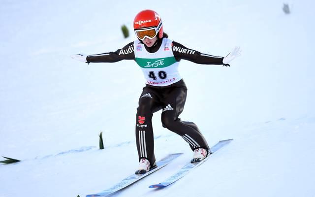 Juliane Seyfarth fehlten 28 Zentimeter zu ihren zweiten Weltcupsieg