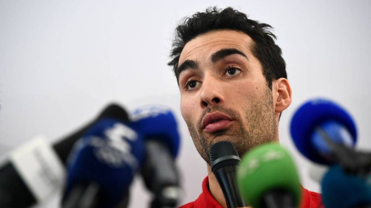 France's flag bearer at the 2018 Pyeongchang Winter Olympics Martin Fourcade gives a press conference at the French house ahead of the Pyeongchang 2018 Winter Olympic Games in Pyeongchang on February 8, 2018. / AFP PHOTO / FRANCK FIFE        (Photo credit should read FRANCK FIFE/AFP via Getty Images)
