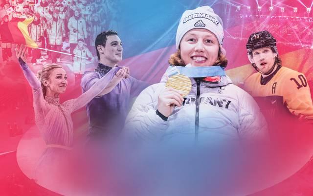 Wer darf die deutsche Fahne bei der Abschlussfeier von Olympia tragen? Laura Dahlmeier (M.) gilt als heißeste Kandidatin