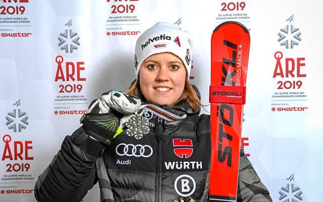 Viktoria Rebensburg holte die einzige deutsche Medaille bei der alpinen Ski-WM