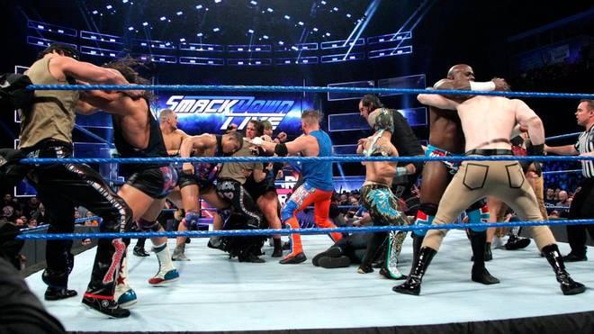 Der Hauptkampf von WWE SmackDown Live vor dem Royal Rumble artete aus