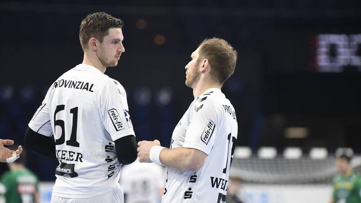 Hendrik Pekeler (l.) und Steffen Weinhold sind in Kiel noch Teamkollegen