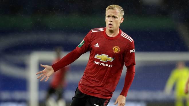 Donny van de Beek im Trikot von Manchester United zu sehen ist bisher eine Seltenheit