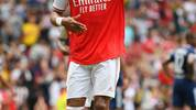 LONDON, ENGLAND - JULY 28: Pierre-Emerick Aubameyang of Arsenal celebrates his goal to make it 1-0 during the Emirates Cup match between Arsenal and Olympique Lyonnais at the Emirates Stadium on July 28, 2019 in London, England. (Photo by Michael Regan/Getty Images)