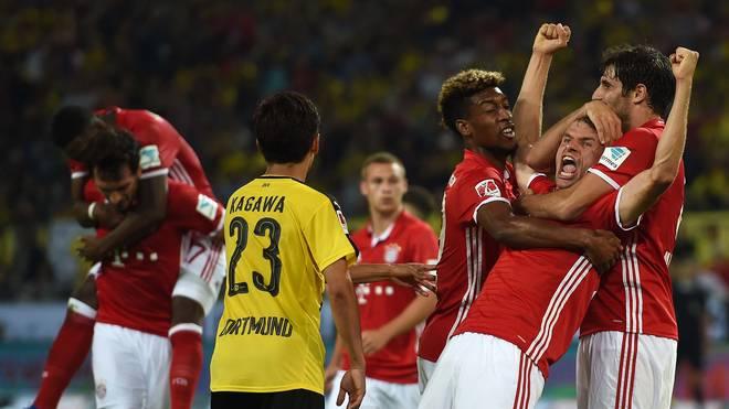 Der FC Bayern setzte sich im Supercup gegen den BVB durch