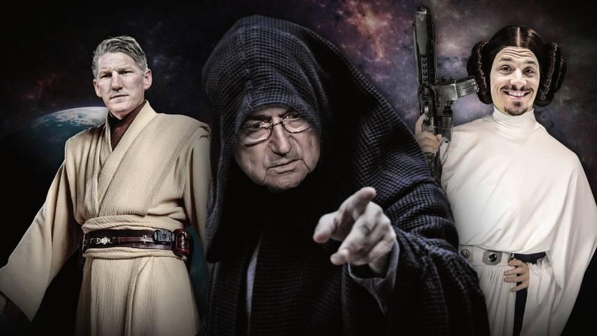 Darth Vader, Luke Skywalker und Prinzessin Leia - die Helden des Star-Wars-Universums kommen wieder auf die Leinwand. Was das Ganze mit Fußball zu tun hat? Sehr, sehr viel. SPORT1 zeigt die (nicht ganz ernst gemeinte) Star-Wars-Traumelf