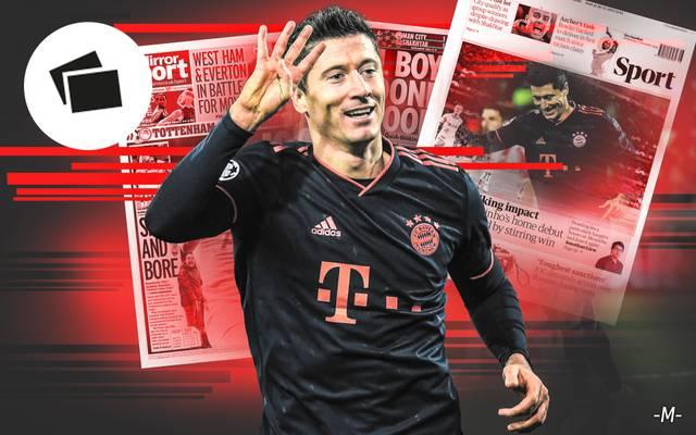 Nach Robert Lewandowskis Viererpack beim 6:0-Sieg gegen Roter Stern Belgrad feiert die internationalen Gazetten Bayern Münchens Super-Stürmer. Die Pressestimmen