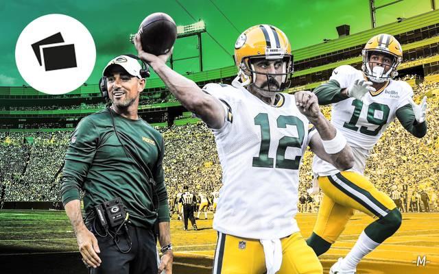 Aaron Rodgers (M.) soll die Packers wieder in die Playoffs führen