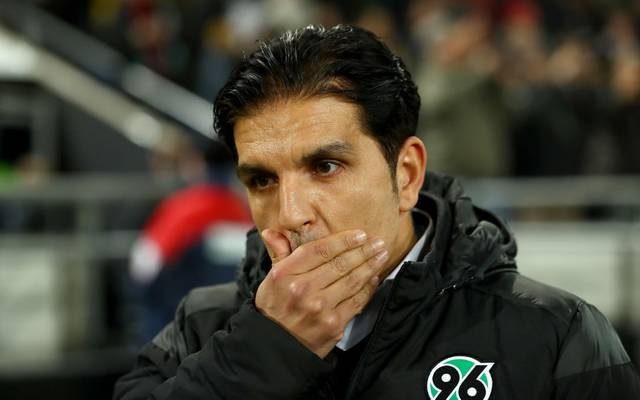 HANOVER, GERMANY - NOVEMBER 25: Kenan Kocak, new head coach of Hannover reacts before the Second Bundesliga match between Hannover 96 and SV Darmstadt 98 at HDI-Arena on November 25, 2019 in Hanover, Germany. (Photo by Martin Rose/Bongarts/Getty Images)