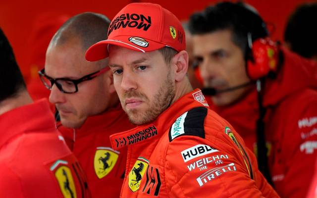 Ferrari's German driver Sebastian Vettel waits to take part in the tests for the new Formula One Grand Prix season at the Circuit de Catalunya in Montmelo in the outskirts of Barcelona on February 27, 2020. (Photo by Josep LAGO / AFP) (Photo by JOSEP LAGO/AFP via Getty Images)