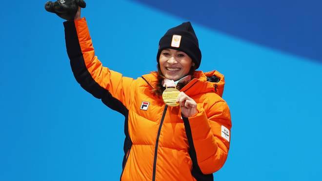 Bibian Mentel-Spee freut sich über Gold bei den Paralympics in Pyeongchang