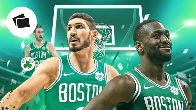 Kemba Walker (r.) und Enes Kanter (M.) sind neu bei den Boston Celtics