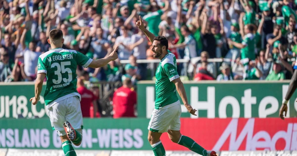 Bundesliga: Werder Bremen - RB Leipzig 2:1 - Pizarro feiert Party