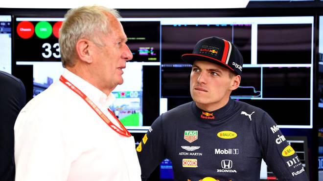 Max Verstappen (r.) hielt wenig von Helmut Markos Vorschlag bei Red Bull, die Fahrer absichtlich mit dem Coronavirus zu infizieren