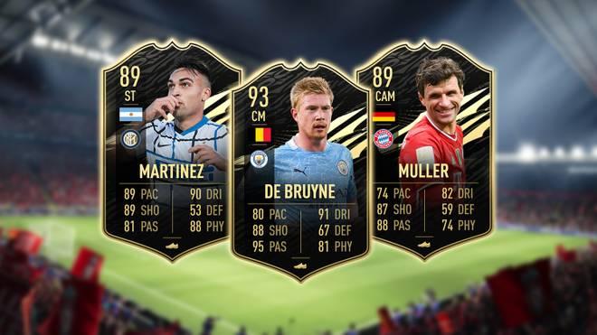 Das neue FIFA Ultimate Team der Woche mit Lautaro Martinez, Kevin De Bruyne und Thomas Müller