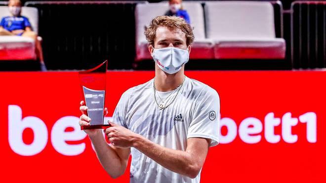 Alexander Zverev feierte in Köln einen souveränen Finalerfolg gegen Felix Auger-Aliassime
