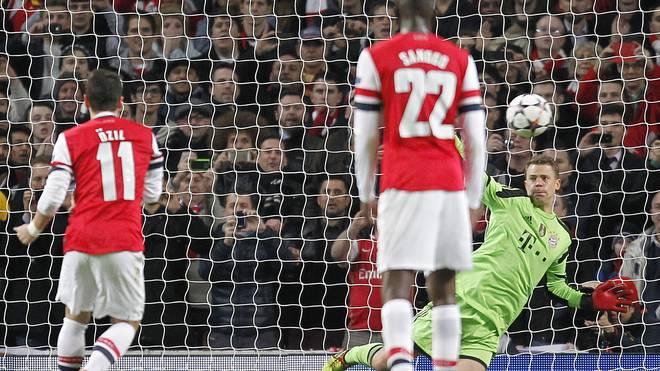 Im Februar 2014 hielt Manuel Neuer den Strafstoß von Mesut Özil
