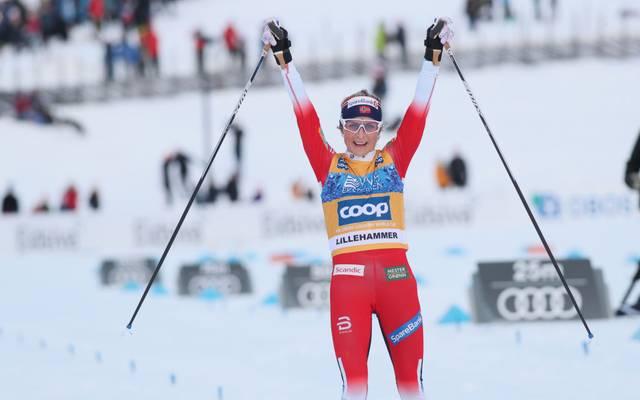 Therese Johaug hat die Auftaktetappe der Tour de Ski gewonnen