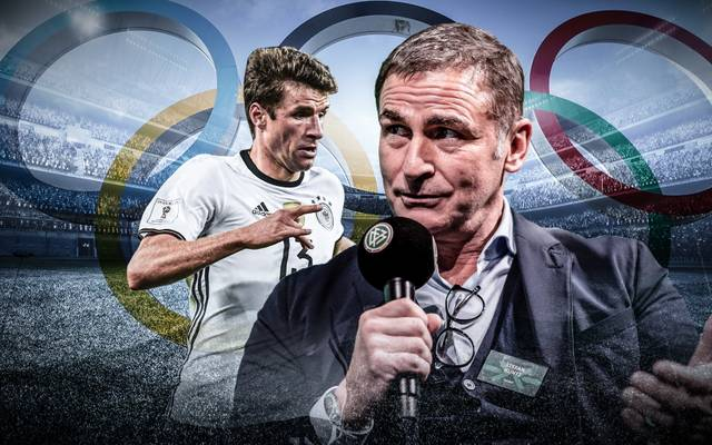 Stefan Kuntz (r.) will Thomas Müller zu den Olympischen Spielen mitnehmen