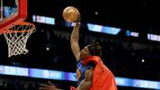 CHICAGO, ILLINOIS - FEBRUARY 15: Dwight Howard #39 of the Los Angeles Lakers dunks the ball in the 2020 NBA All-Star - AT&T Slam Dunk Contest during State Farm All-Star Saturday Night at the United Center on February 15, 2020 in Chicago, Illinois. NOTE TO USER: User expressly acknowledges and agrees that, by downloading and or using this photograph, User is consenting to the terms and conditions of the Getty Images License Agreement. (Photo by Jonathan Daniel/Getty Images)