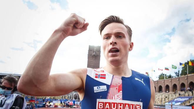 Karsten Warholm verpasste den Weltrekord über 400 Meter Hürden nur knapp