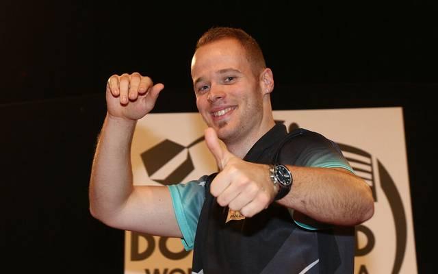 Max Hopp hat gute Erinnerungen an die European Darts Championship