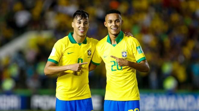Kongeniales Stürmerduo: Kaio Jorge (l.) und Lazaro erzielten jeweils ein Tor