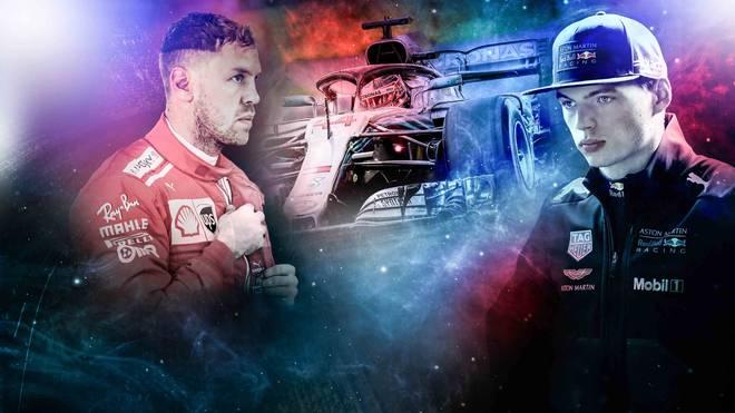 Sebastian Vettel (l.) und Max Verstappen (r.) waren Lewis Hamilton im Qualifying klar unterlegen