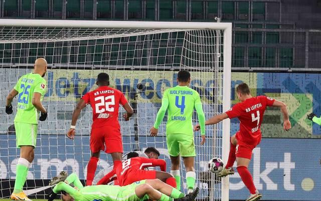 Willi Orban erzielte das 2:2 für RB Leipzig gegen den VfL Wolfsburg