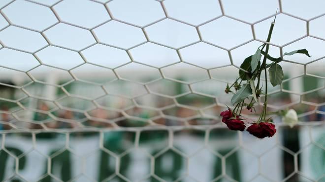 Fans des brasilianischen Erstligisten Chapecoense trauern um ihre Spieler