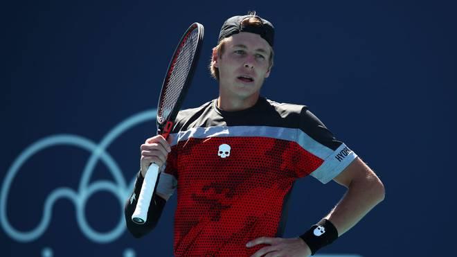 Ilya Ivashka rastete beim ATP-Turnier in St. Petersburg aus.