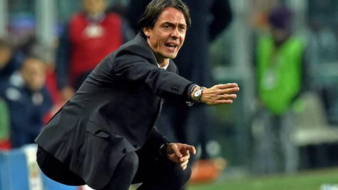 Trainer Filippo Inzaghi hofft mit dem AC Mailand auf ein Erfolgserlebnis im Pokal
