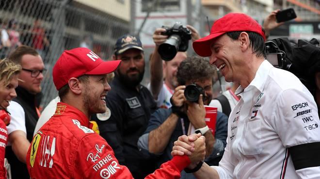 Sebastian Vettel und Toto Wolff verstehen sich gut