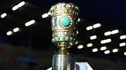 BOCHUM, GERMANY - OCTOBER 29: The DFB Cup is seen pitch side prior to the DFB Cup second round match between VfL Bochum and Bayern Muenchen at Vonovia Ruhrstadion on October 29, 2019 in Bochum, Germany. (Photo by Lars Baron/Bongarts/Getty Images)