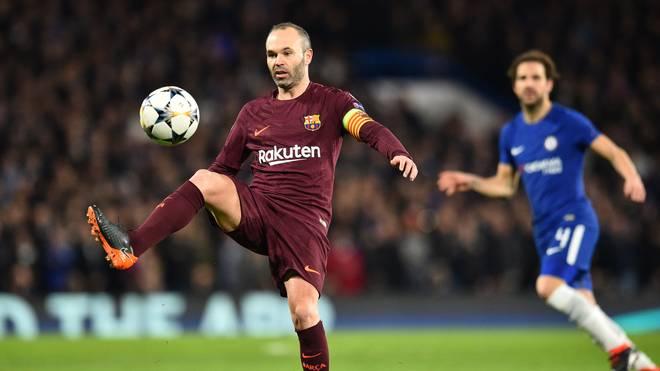 Andres Iniesta bereitete im Achtelfinal-Hinspiel der Champions League den Ausgleich gegen Chelsea vor