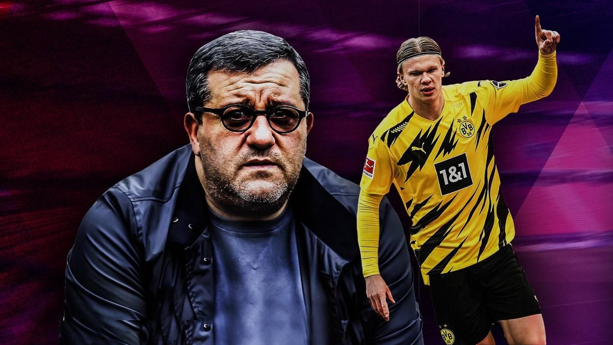 Englischen Medienberichten zufolge will der Top-Agent Haaland zum bestbezahlten Fußballer der Welt machen. Der Mirror behauptet, dass der Stürmer eine Million Pfund pro Woche verdienen soll.