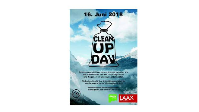 Clean Up Day in Laax