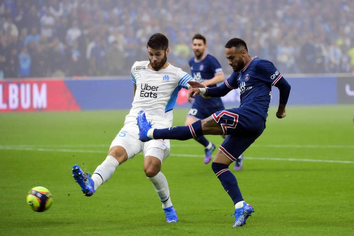 Olympique Marseille ringt Paris Saint-Germain im Orange Vélodrome ein Unentschieden ab. PSG-Star Hakimi fliegt vom Platz.
